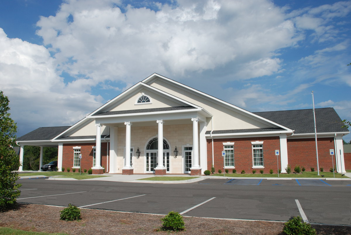 Shives funeral home buchanan commercial construction for Funeral home building plans
